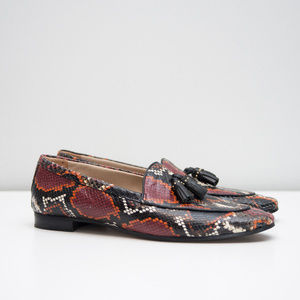Massimo Dutti Animal Print snakeskin Loafers